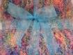 Couverture pour bebe landau poussette cadeau naissance bapteme plaid divan canape decoration