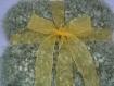 Couverture bebe laine fantaisie effet brillant ruban organza