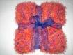 Couverture bébé enfant landau poussette cadeau naissance baptème plaid canapé sofa divan décoration dessus de lit ruban organza bleu