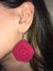 Boucle d'oreile au crochet (coton rigidifié)