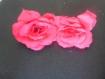 Lot de 2 jolies fleurs fuchsias artificielles
