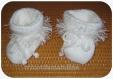 Paire de chaussons bébé blancs