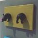 Tableau elephant et rhino