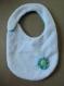 Bavoir bébé fait main en bouclette éponge et tissu dentelle