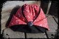 Pochon / sac origami liberty rouge