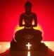 Lampe artisanale bouddha en bois