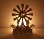 Lampe égyptienne en bois peuplier