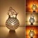 Lampe à poser artisanale en bois peuplier