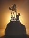 Lampe à poser décorative le roi lion