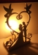 Lampe de chevet en bois décorative jeunes mariés