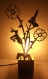Lampe de chevet en bois brut à poser silhouette femme