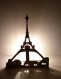 Lampe artisanale tour eiffel / cupidon