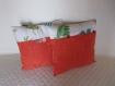 Lot de deux coussins 40x40 orange et imprimé modèles cbt 010