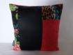 Coussin-bijoux patchwork 30x30 modèle anemone pavonina
