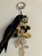 Bijou de sac-porte clés en tissu-bijoux et boutons modèle genevrier