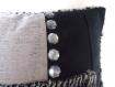 Coussin-bijoux-boutons patchwork 40x60 modèle papaver