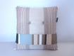 Coussin-bouton patchwork 40x40 modèle polygonum