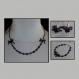Ensemble collier, bracelet et boucles d'oreilles