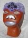 Sculpture mosaïque africain, marron et violet.