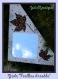 Miroir 'feuilles d'érable' en mosaïque de pâtes de verre