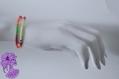 Summer - bracelet 2 rangs perle de rocaille fluos jaune rose vert fuchsia