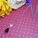 Hazel - long sautoir argenté, pendentifs géométriques et perle goutte noire