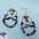 Chadia - paire de boucle d'oreille en métal doré avec perle toupies multicolores