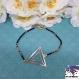 Tristan - bracelet perle miyuki, estampe triangle rose gold