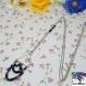 Neo - collier argenté pendentif triangle et perles tchèques multicolores