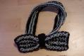 Nœud papillon en tricot bicolore