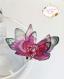 Bague papillons roses organza