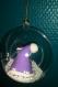 Suspension de noël mr bonnet violet
