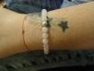 Bracelet pierre naturelle en quartz rose avec argent 925/1000°