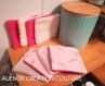 Lingettes démaquillantes, lavantes, débarbouillantes - le lot de 10