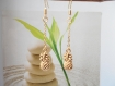 Boucles d'oreilles chainette doré pendentif ananas