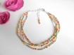 Bracelet cheville perles rocailles multicolore