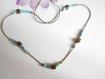 Collier ras du cou minimaliste bronze perle miyuki