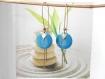 Boucles d'oreilles  bronze sequin turquoise