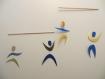 Mobile des danseurs - montessori avec des matériaux respectueux de bébé et de l'environnement