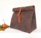 Lunch bag marron