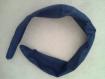 Bandeau cheveux bleu marine avec légère armature