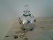 Vase flacon décoré