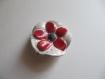 Broche fleur rouge/noir