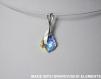 Swarovski pendentif cristal baroque / argent 925