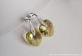 Swarovski boucles d'oreilles cristal  cœur / argent 925