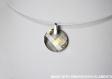 Swarovski pendentif cristal twist marron / argent 925