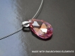 Swarovski pendentif cristal amande rose bleu / argent 925