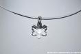 Swarovski pendentif cristal flocon / argent 925 / sans cordon