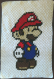 Plaid bébé mario au crochet pixel art
