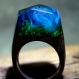 Bague secret wood bleu